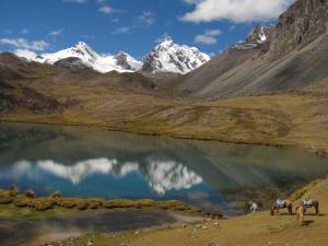 One of the lagoons seen in  Ausangate Trekk and Climb Qampa